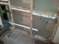 Plumbing pipe work for shower room in NW2 Cricklewood.