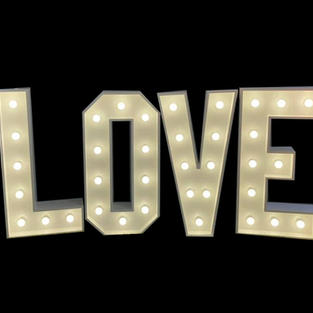 White LED Love Letters