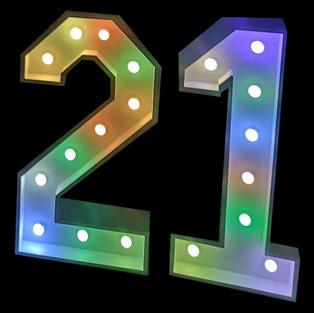 RGB LED Numbers