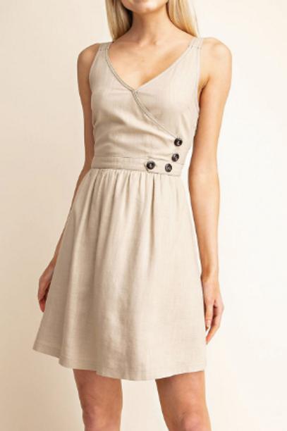 Minimalist Taupe Dress