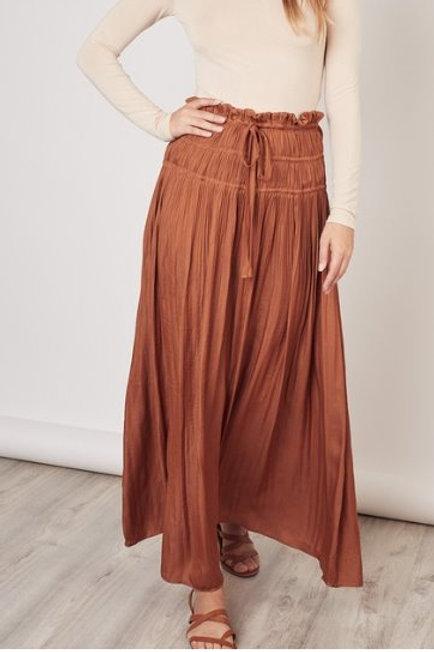 Caramel Maxi Skirt
