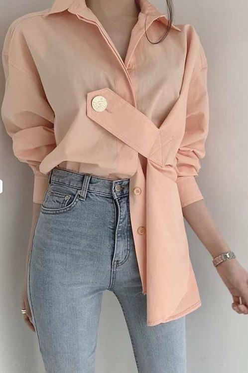 Oblique Button Shirt