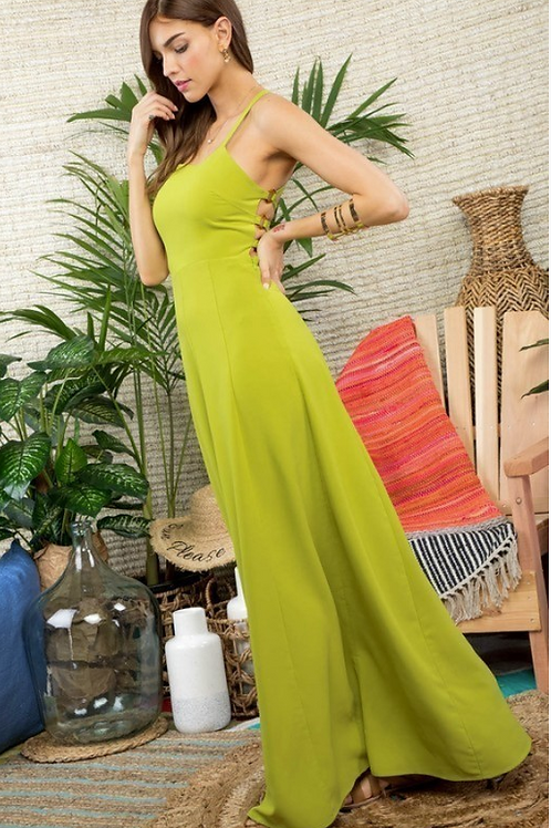 Green Apple Maxi Dress