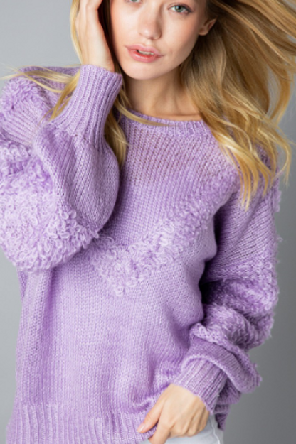 Fabric Blocking Lilac Sweater