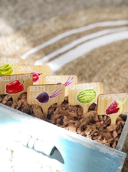 Set of 5 Garden Markers