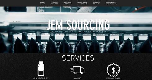 JEM Sourcing website website design Los Angeles web design