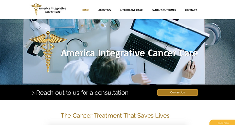 American Integrative Cancer Care website Los Angeles websites