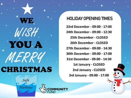 Holiday Opening Times