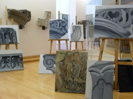 LES CHEVALETS, cours de dessin et peinture au Musée d'Art Roger-Quilliot