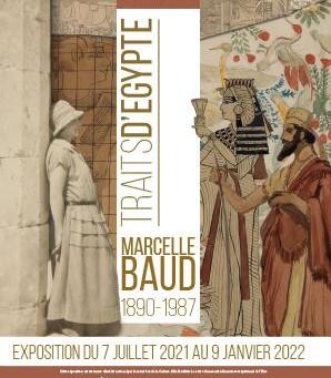 Exposition Traits d'Egypte, Marcelle Baud au musée Bargoin