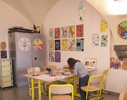 vue d'atelier des enfants au MARQ 2 - AS