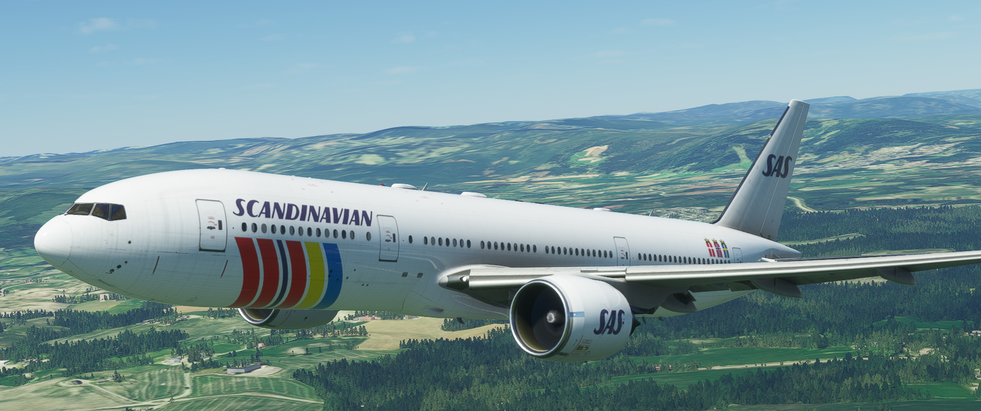 Scandinavian Airlines (old livery) (777)