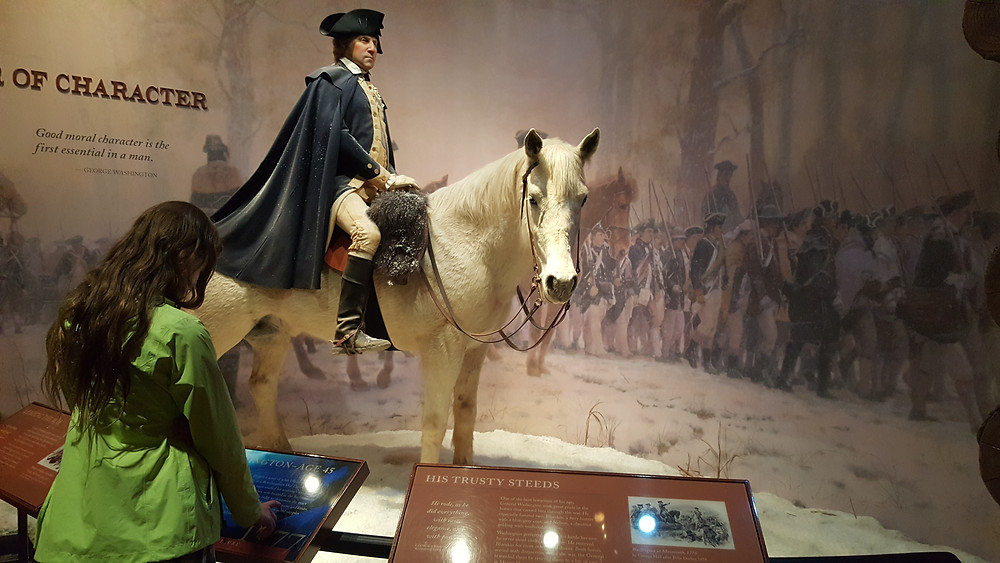 GW on his horse