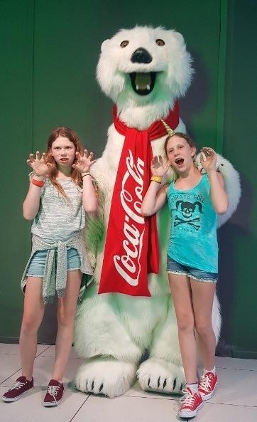 Grrrr!  Hanging w/ the Coca-Cola Bear