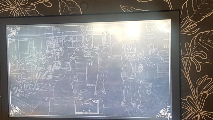 Starbucks- Dabbing in the etch-a-sketch