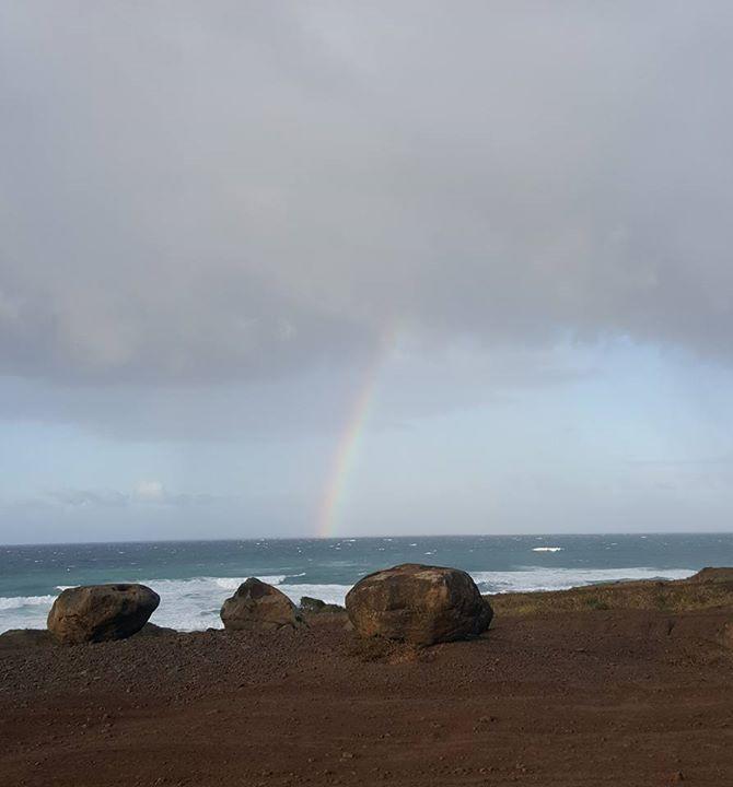 Rainbow on the way to Kaena Point