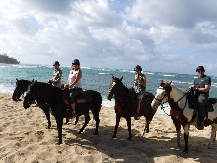 Horseback riding on North Shore