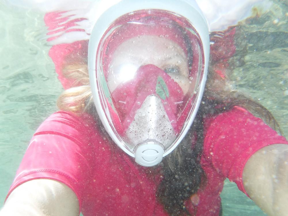 Loving the full face snorkel mask!