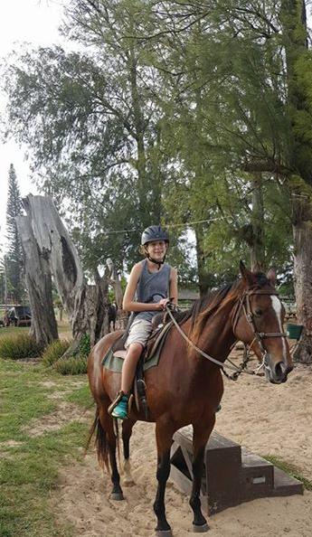 Gracie is riding Fiji