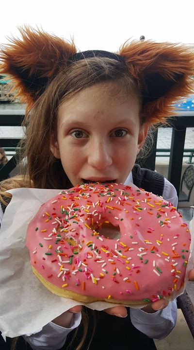 WOW is that a big doughnut!!!
