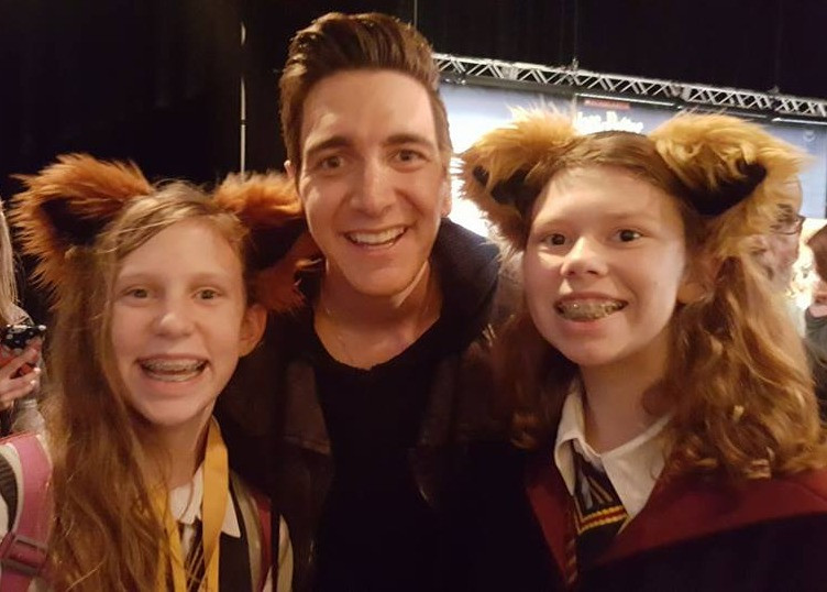 Twins and Oliver (one of the Weasley twins) at the Celebration of Harry Potter