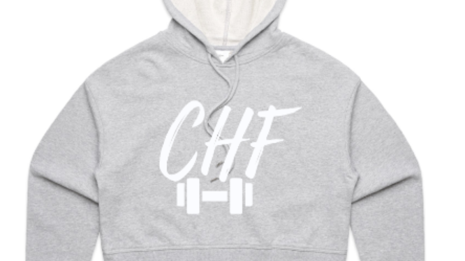 Grey CHF Cropped Hoodie