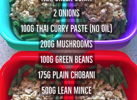 Thai Green Curry (using Chobani Yoghurt)