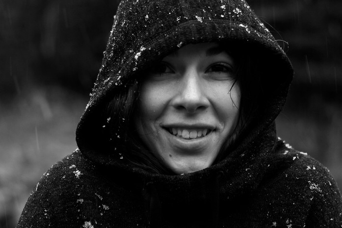 Smiling in the Snow