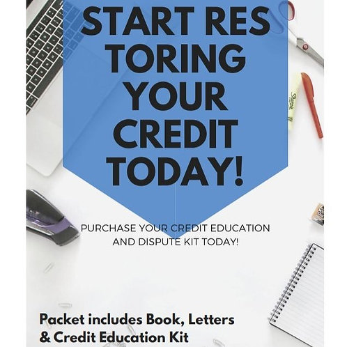 FIIT Credit Restoration Starter Dispute Kit