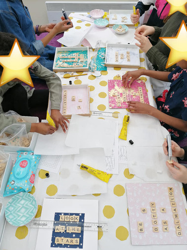 Scrabble frame craft party