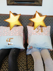 Personalised cushions with pocket detail