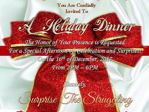 Surprise The Struggling to Host a Surprise Holiday Dinner Party for Starbright Family Residence Cent