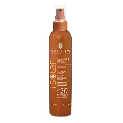 Solare Spray Fluido Viso-Corpo SPF 20 Nature's