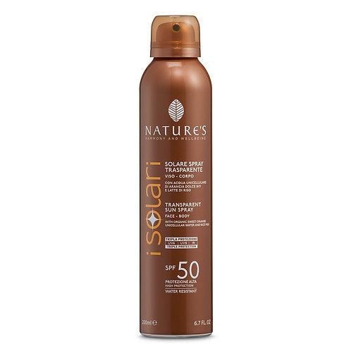 Solare Spray Trasparente SPF 50 Nature's
