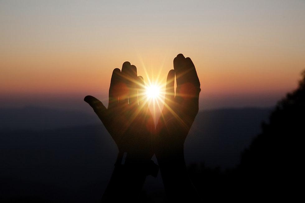 spiritual-prayer-hands-sun-shine-with-bl