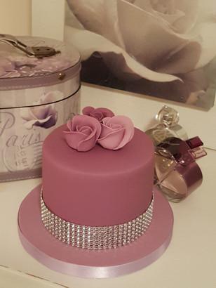 Pink women's birthday cake