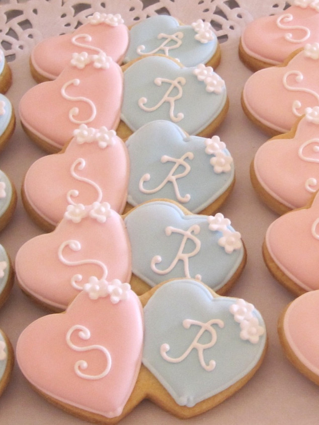 Heart initial biscuits