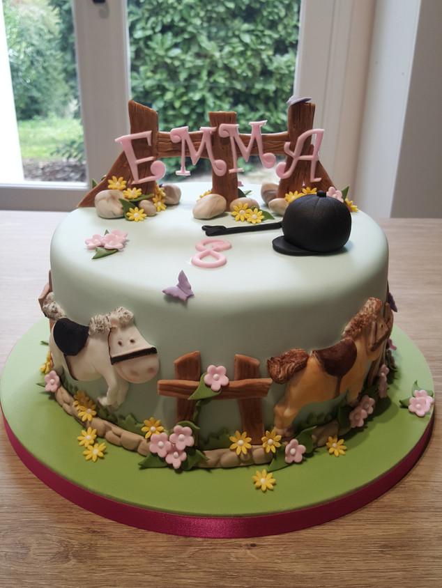 Horse riding birthday cake