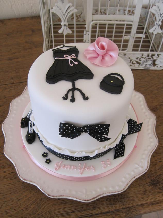 Fashion theme cake