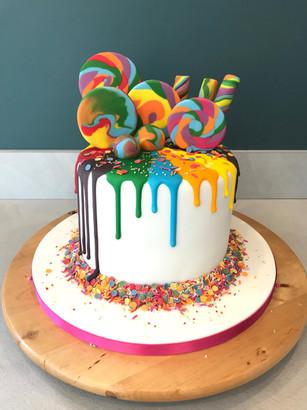 Summer lolipop cake - Rainbow colour cake