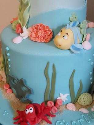 Little Mermaid theme cake