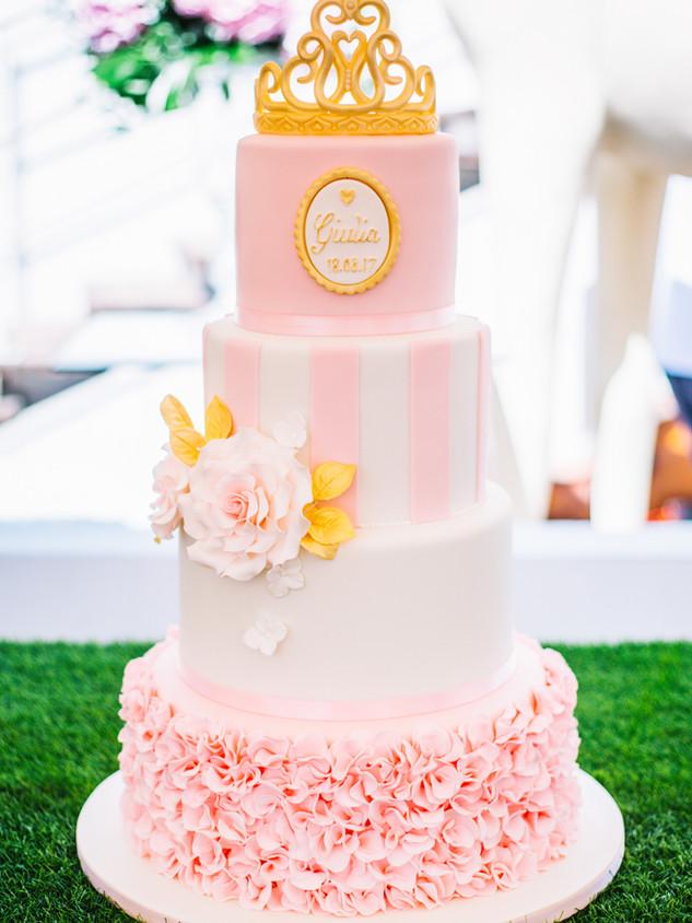Gâteau de Baptême pour fille, Christening cake for a girl