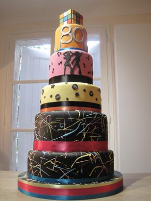 80s birthday cake