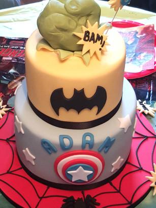 Super-hero birthday cake