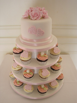 Cupcake tower wedding cake available in any colour or design