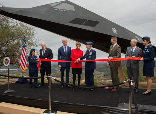 Stealth Fighter Jet F-117 Nighthawk Exhibit at The Ronald Reagan Library -Simi Valley
