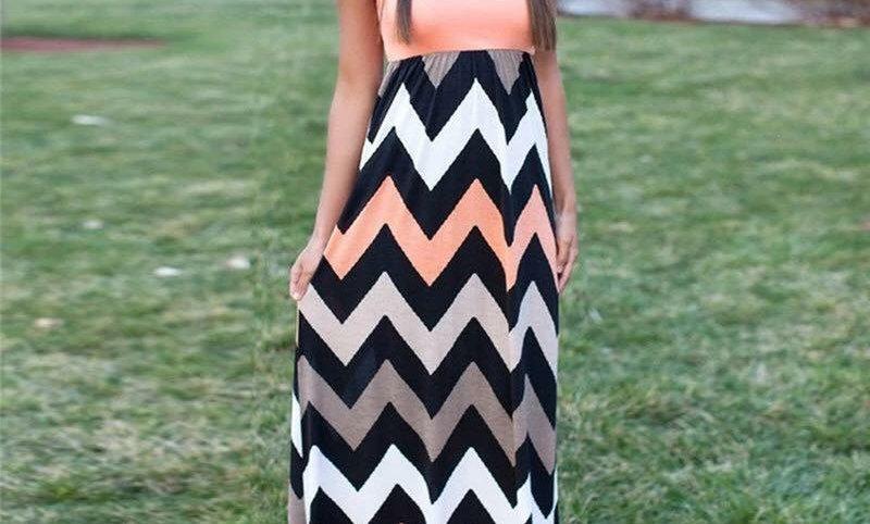 Peach- Maxi Dress