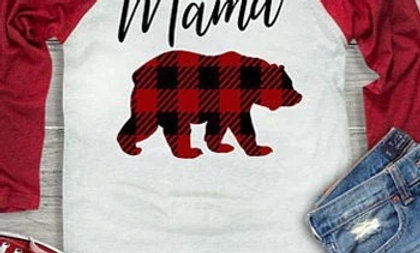 White & Red Mama Bear