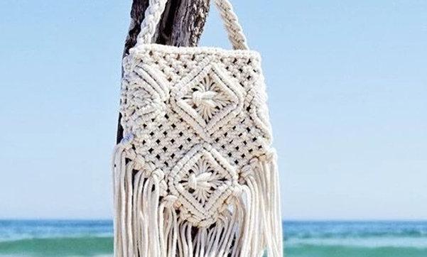 Bohemian Beige Handbag