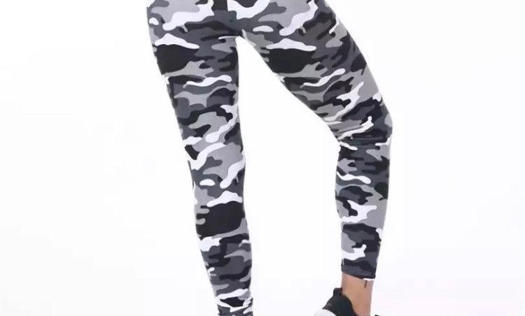 White Camouflage Leggings